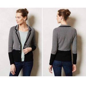 Anthropologie Sparrow Birdseye Sweater Blazer